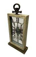 "22"" x 11"" Driftwood See Through Mantel Clock"