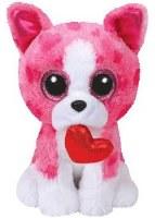"6"" Romeo the Pink Dog Beanie Boos Plush Toy"