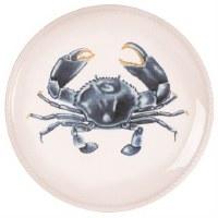 "8.5"" Round Blue Crab Plate"