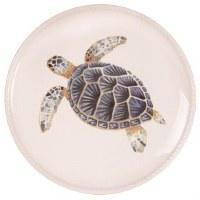 "8.5"" Round Blue Sea Turtle Plate"
