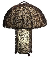 """25"""" Vine and Leaf Dome Table Lamp"""