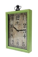 "20"" x 14"" Lime Green Hotel California Wood Wall Clock"