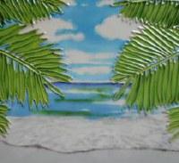 "6"" Square Palm Tree Entrance Tile"