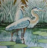 """8"""" Square Shorebirds Tile"""