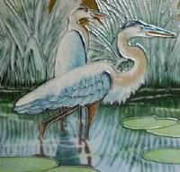 """6"""" Square Shorebirds Tile"""