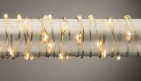 "36"" Battery Operated Warm 18 LED Gold Wire Light String"