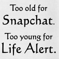 """26"""" x 16"""" Too Old For Snapchat Kitchen Towel"""