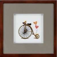 "10.6"" Square Brown Frame For Quilling Greeting Cards"