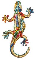 """7"""" Gold and Multicolor Mosaic Gecko"""