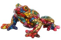 """5"""" Gold and Multicolor Mosaic Frog"""