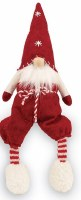 """8"""" Felt Shelf Gnome With Red Hat and Knickers"""