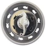 """3"""" Round Silver Seahorse Sink Strainer"""