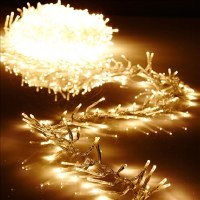"120"" Clear Wire Garland of 300 Warm White LED Lights"