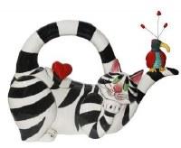 "7"" Clancy Hearts Ceramic Cat Teapot"