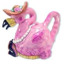 """10"""" Miss Precious Flamingo Ceramic Teapot"""