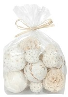 Bag of 18 Assorted White Orbs