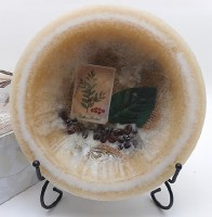 """7"""" Round Coffee and Cream Scented Wax Bowl"""