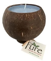 """4.25"""" Ocean Mist Scented Pure Coconut Candle"""