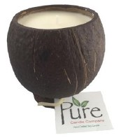 "4.25"" Coconut Scented Pure Coconut Candle"