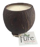 "4.25"" Pina Colada Scented Pure Coconut Candle"