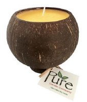"""4.25"""" Mango Scented Pure Coconut Candle"""