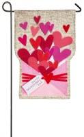 "18"" x 13"" Mini Valentine Hearts Envelope Garden Flag"
