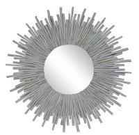 """43"""" White Twig Sunburst Mirror"""