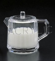 """4"""" Clear Acrylic Creamer Dispenser with Lid"""