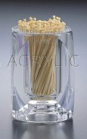 """3"""" Clear Acrylic Toothpick Holder"""