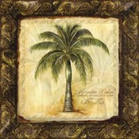 "7"" Square Majestic Palm Paper Luncheon Napkin"