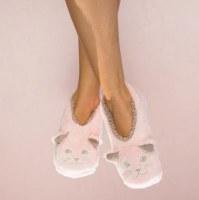 Medium Pink Cat Nap Cozy Footsies