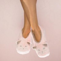 Small Pink Cat Nap Cozy Footsies