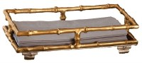 """9"""" Gold Bamboo Guest Towel Holder"""