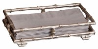 """9"""" Silver Bamboo Guest Towel Holder"""