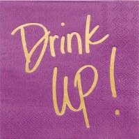 """5"""" Square Drink Up Beverage Napkins"""