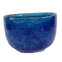 """8"""" Cobalt Blue Glass Bowl"""