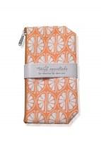 "8"" Orange Clementine Travel Essentials Bag"
