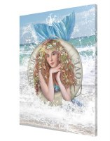 "26"" x 20"" Mermaid Cove Life Ring Canvas"