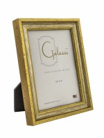 "3"" x 5"" Distressed Silver and Gold Finish Picture Frame"