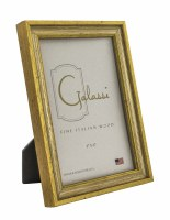 "4"" x 6"" Distressed Silver and Gold Finish Picture Frame"