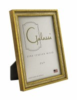 "5"" x 7"" Distressed Silver and Gold Finish Picture Frame"