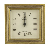 """5"""" Square Distressed Silver and Gold Finish Mantle Clock"""