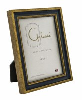 "3"" x 5"" Primary Blue and Gold Picture Frame"