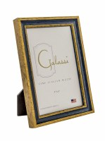 "4"" x 6"" Primary Blue and Gold Picture Frame"