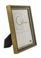 "5"" x 7"" Primary Blue and Gold Picture Frame"
