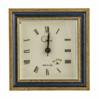 """5"""" Square Primary Blue and Gold Mantle Clock"""