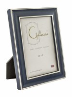 "3"" x 5"" Blue and Silver Picture Frame"