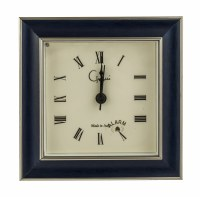 "5"" Square Blue and Silver Mantle Clock"