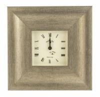 "8"" Square Champagne Chiffon Mantle Clock"