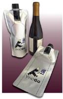 "11"" Silver VineGo Wine Pouch"